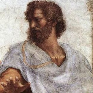 Raphael_[detail] Aristotle from The School of Athens